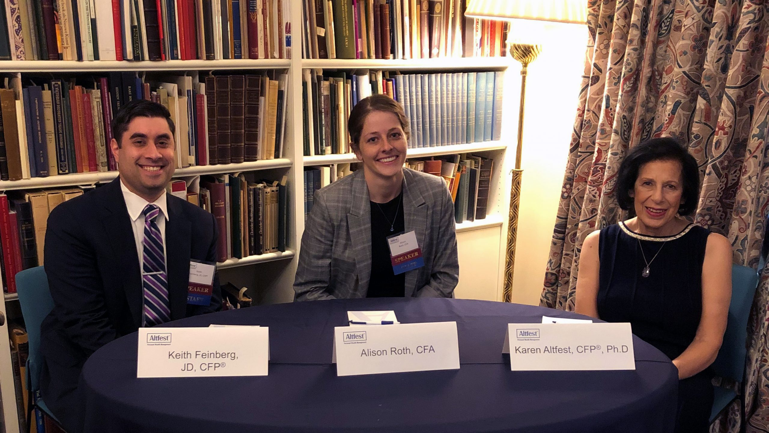 Keith Feinberg, Alison Roth and Karen Altfest